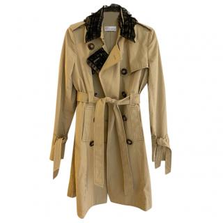 Red Valentino beige cotton trench coat