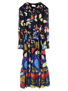 Peter Pilotto colouful floral printed georgette maxi dress
