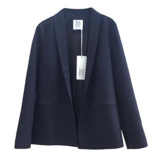 Zoe Karssen black wool blend bite me embroidered jacket