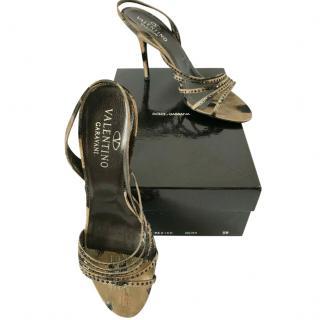 Valentino Garavani Crystal Embellished Sandals