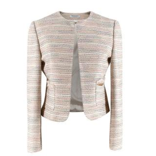 Trussardi Multicolour Tweed Jacket With Sequin Detail