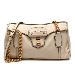Miu Miu Cream Leather Shoulder Bag