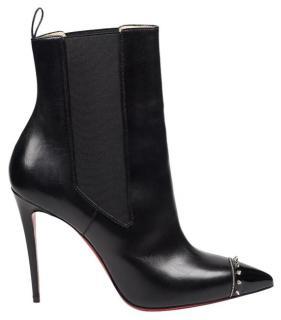 Christian Louboutin Banjo black leather heeled boots