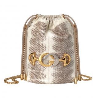 Gucci snakeskin Zumi mini bucket bag