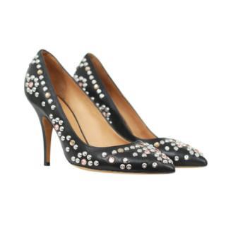 Isabel Marant Clemence black studded pumps