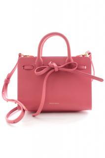 Mansur Gavriel Sun mini pink leather bag