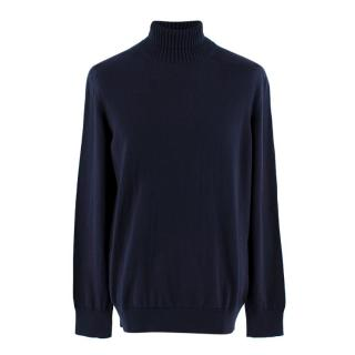 Doriani Navy Blue Turtle Neck Jumper