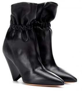 Isabel Marant Black Leather Iconic Ankle Boots