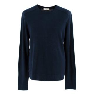 Balenciaga Men's Navy & Gray Panel Sweatshirt