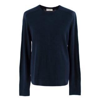 Balenciaga Men's Navy & Gray Panel Sweatshirt