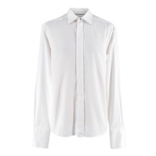 Eton White Textured Button Down Shirt