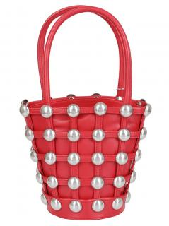 Alexander Wang red Roxy cage leather mini bucket bag