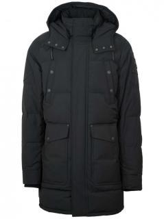 Moose Knuckles black Miscou Island hooded jacket