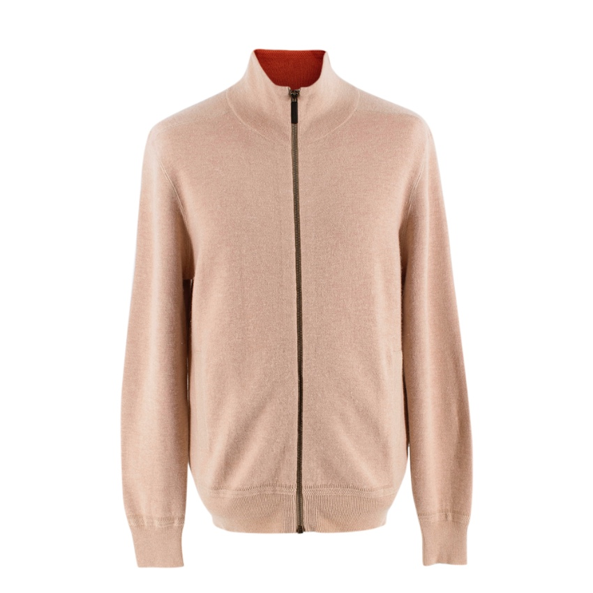 Burberry Cashmere Zip Up Turtleneck Jacket