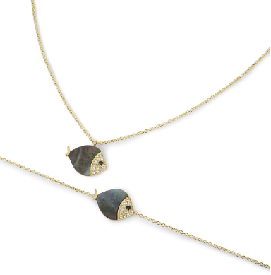 Bespoke Yellow Gold, Diamond & Mother of Pearl Suite