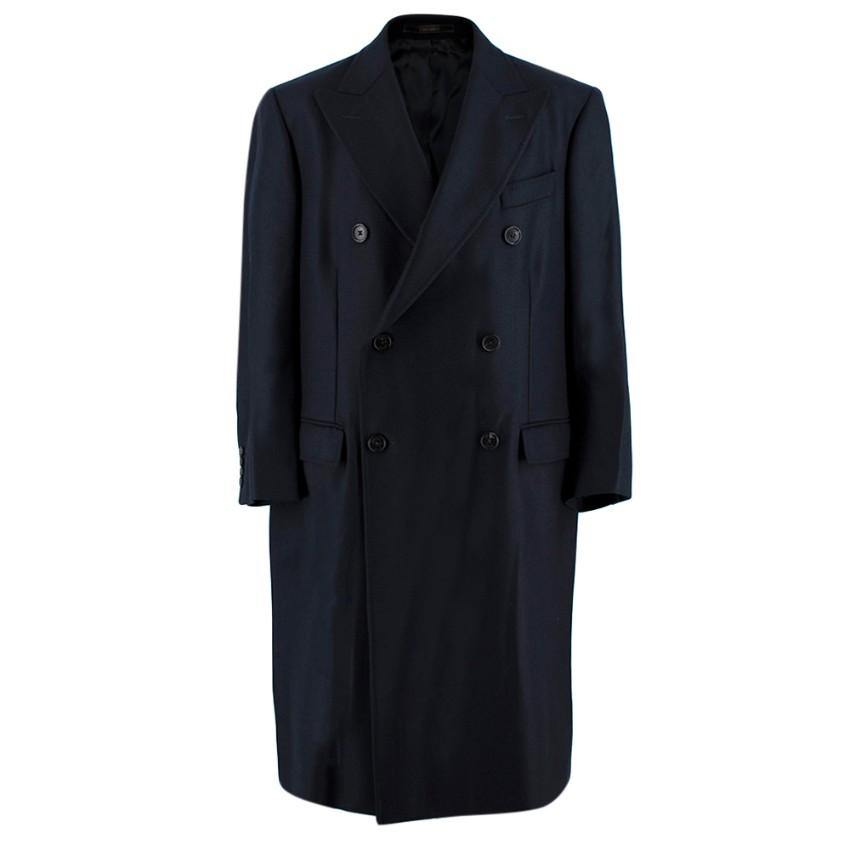 Crombie Navy Wool King Coat