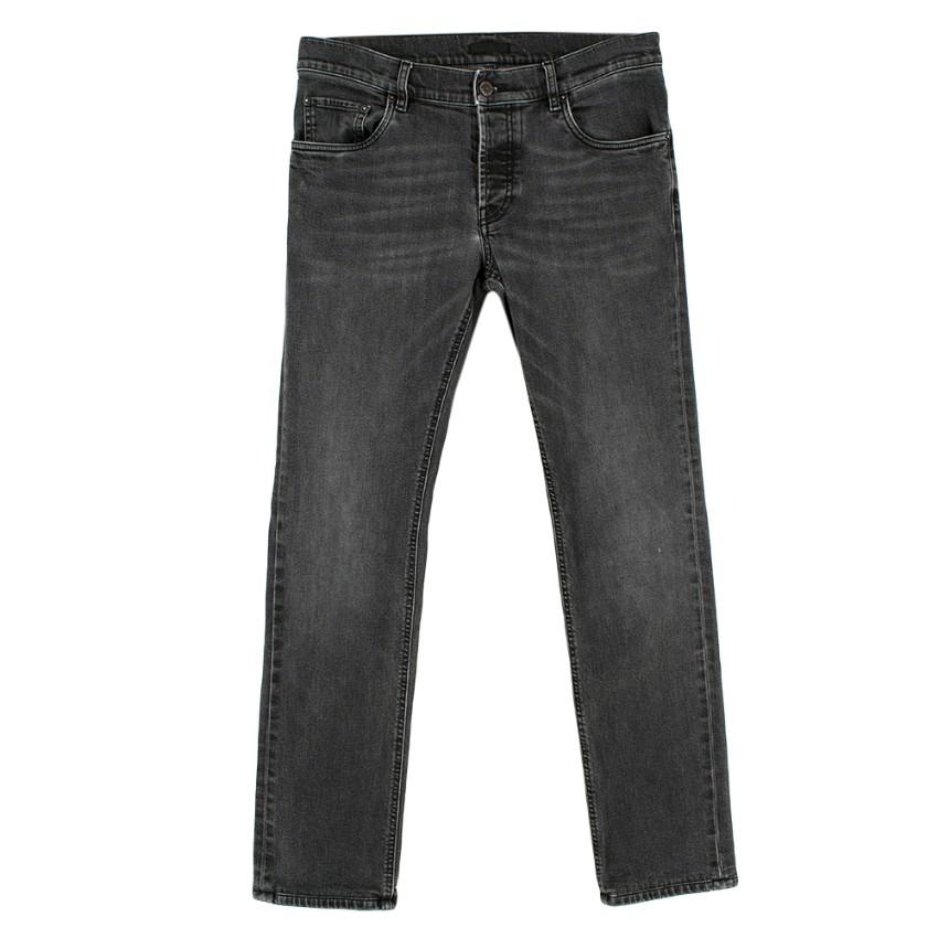 Prada Grey Wash Men's Slim Fit Jeans