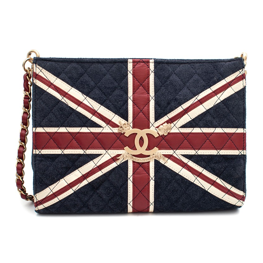 Chanel Suede & Lambskin Union Jack Limited Edition Shoulder Bag