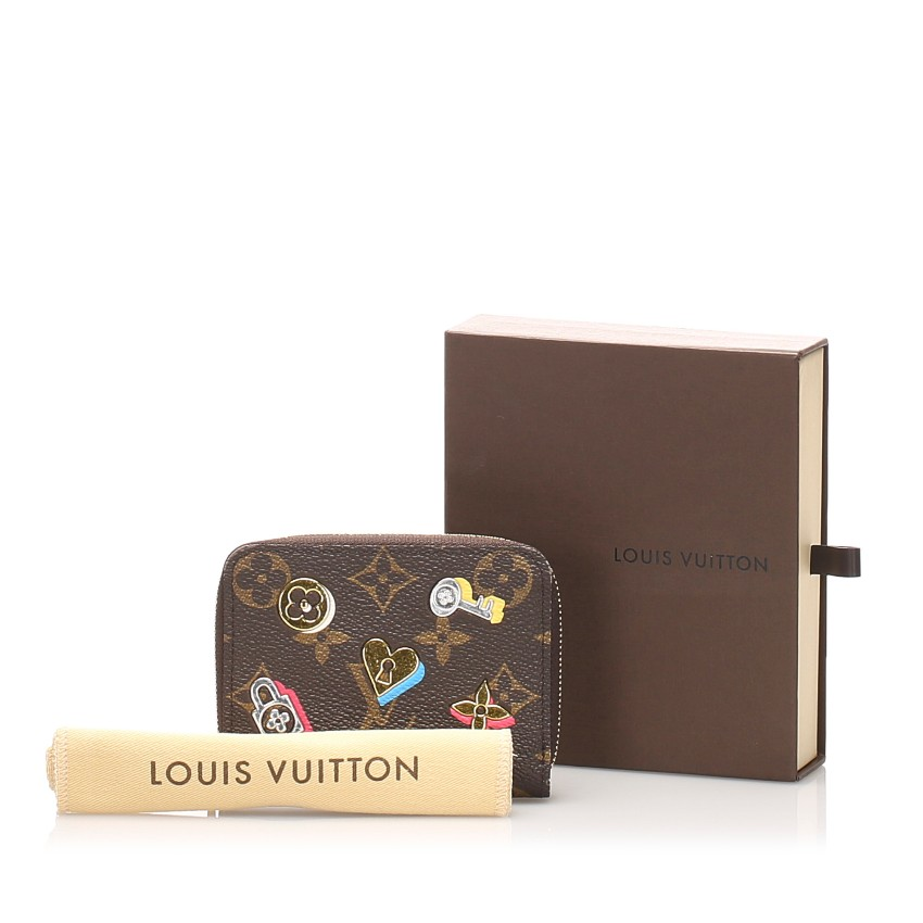 Louis Vuitton Monogram Love Lock Zippy Coin Purse