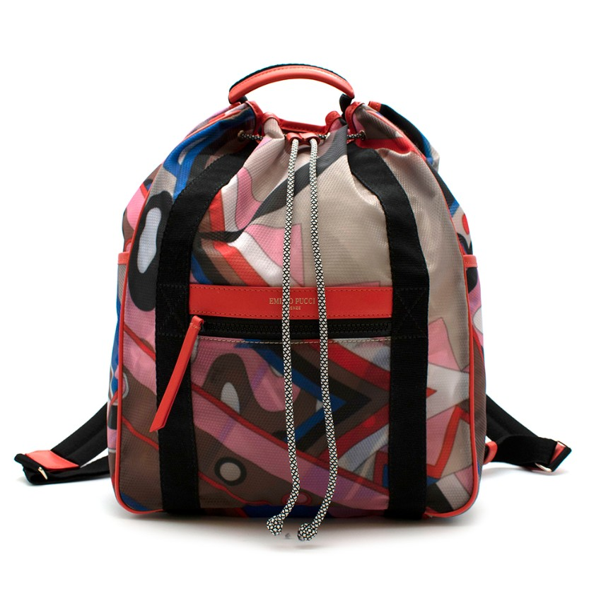Emilio Pucci Vallauris Print Backpack