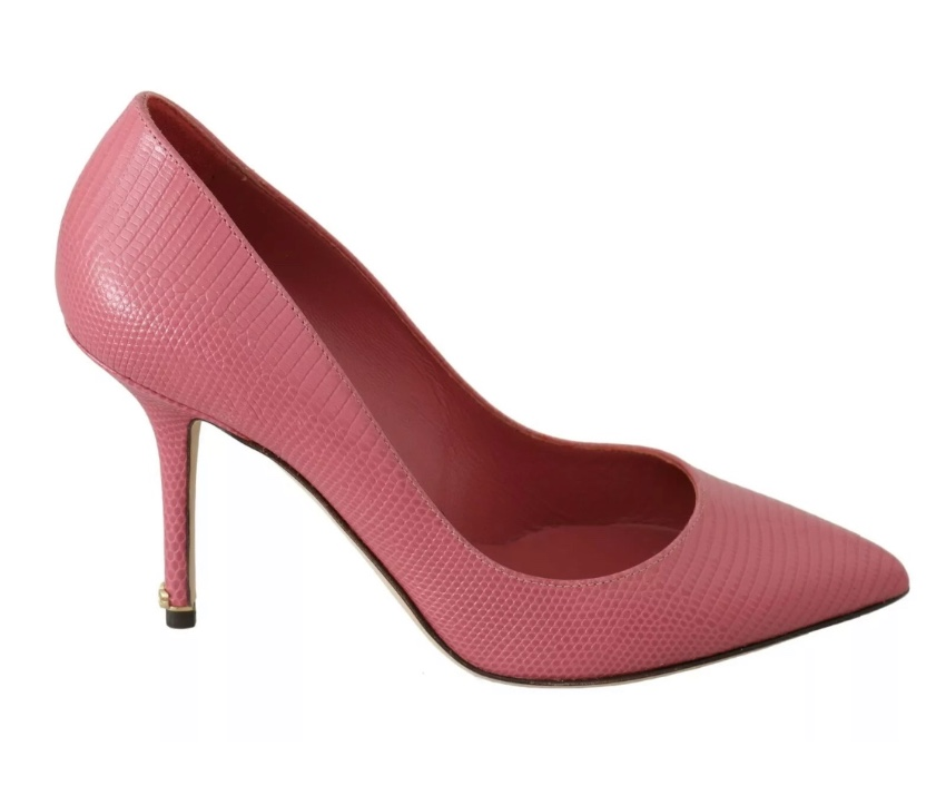 Dolce & Gabbana pink leather pointed pumps
