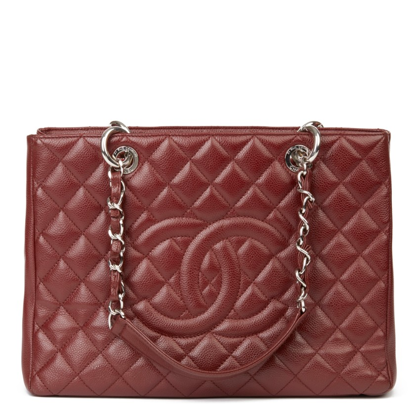 Chanel Burgundy Caviar Leather GST