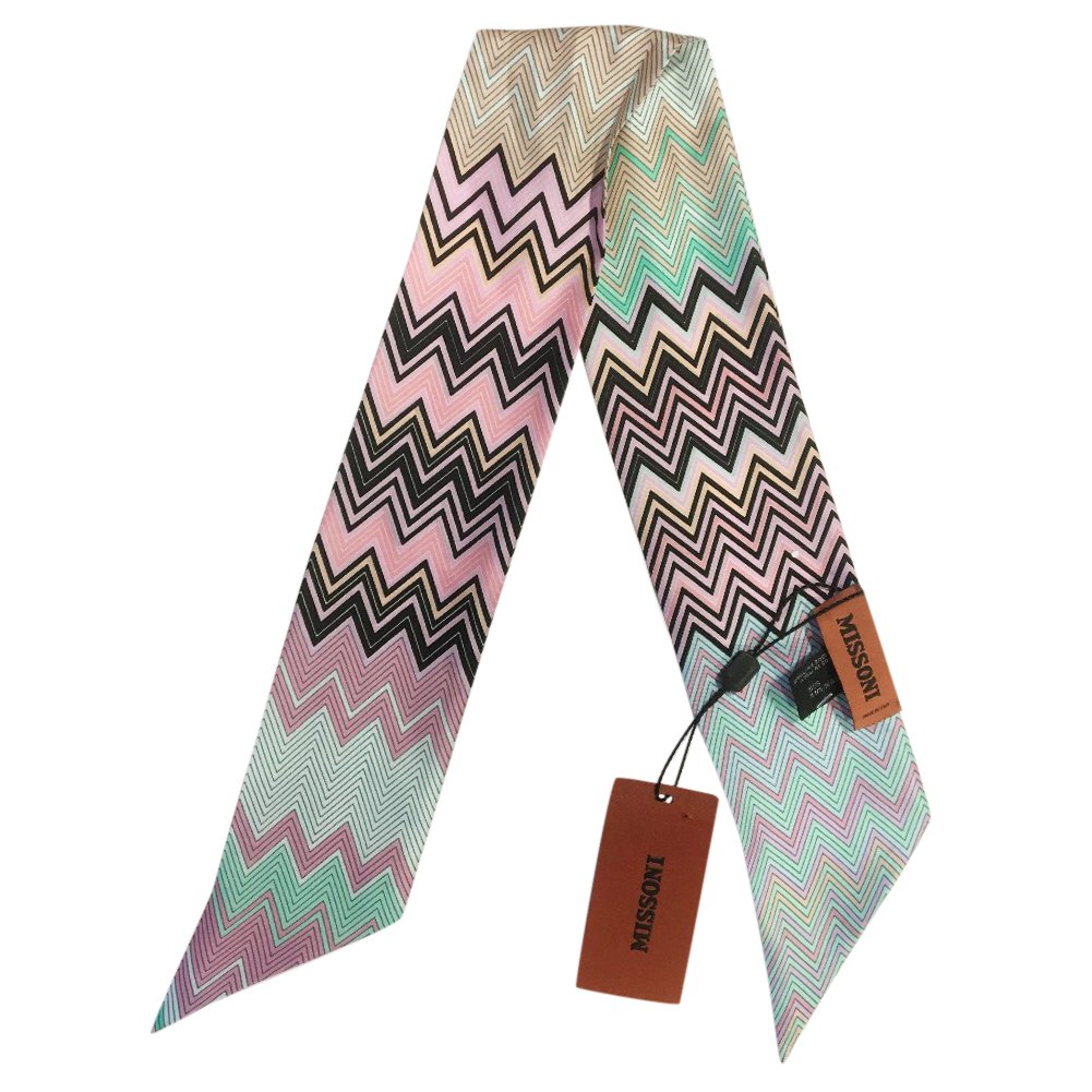 Missoni Silk Zig Zag Pastel Twilly