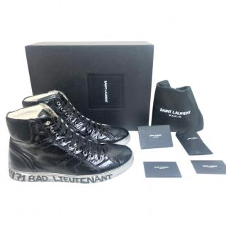 Saint Laurent 1971 Bad Lieutenant black mid-top sneakers