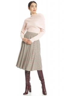 MaxMara wool cropped ribbed pink knit sweater