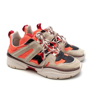 Isabel Marant 'Kinday' Trainers In Beige and Orange