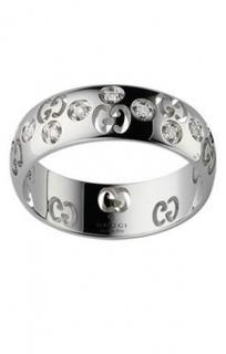 Gucci 18ct white gold & diamond Icon ring