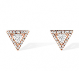 Messika Paris Thea Diamond Earrings in Pink Gold
