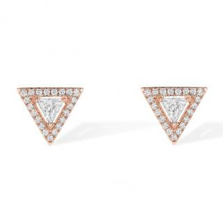 Messika Paris Thea Diamond Earrings in Pink Gold