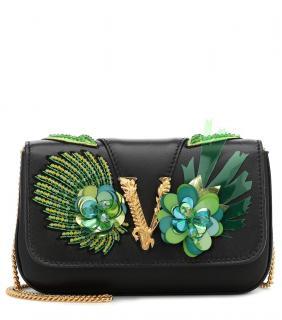 Versace black mini Virtus shoulder bag