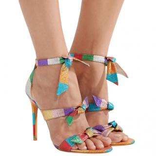 Alexandre Birman Multi-coloured Lolita Bow Stiletto Heels