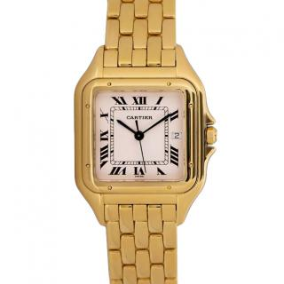 Cartier 27mm Yellow Gold Panthere Watch with Silver Dial