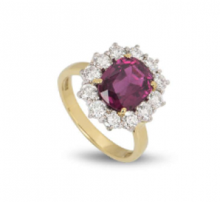 Bespoke Yellow Gold Diamond & Ruby Ring