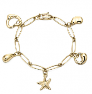 Tiffany 18k Gold 5 Charms Bracelet