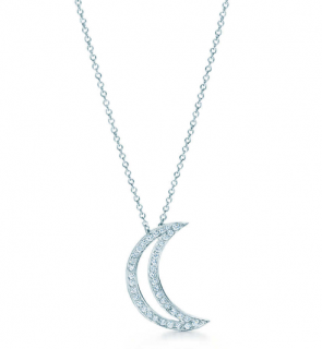 Tiffany & Co. Archive Diamond Moon Pendant in Platinum