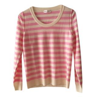 Sonia Rykiel pink & ivory striped sweater