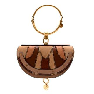 Chloe Leather & Suede Patchwork Nile Minaudiere Cross-Body Bag