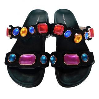 Sophia Webster Becky black embellished sandals