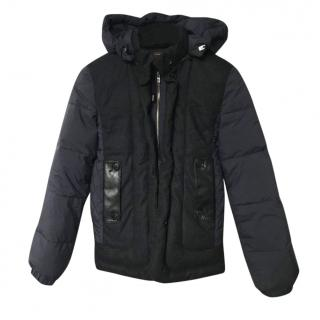 Loro Piana cashmere storm system navy down coat