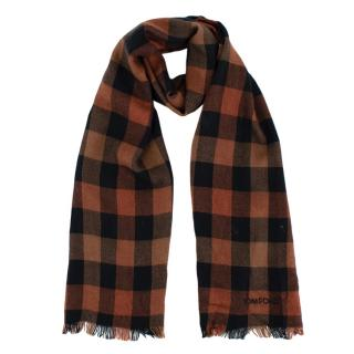 Tom Ford Brown Plaid Cashmere & Silk Scarf
