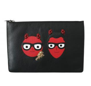 Dolce & Gabbana Family Devil Leather Pouch