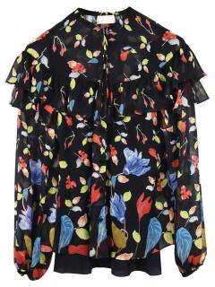 Peter Pilotto Floral Print Ruffled Blouse