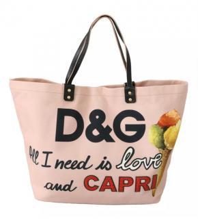 Dolce & Gabbana Blush Capri Canvas Tote Bag