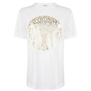 Valentino multi logo white T-shirt