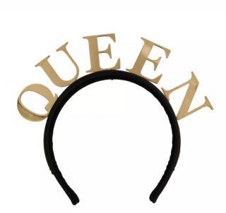 Dolce & Gabbana black & gold Queen headband