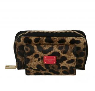 Dolce & Gabbana Leopard Print Coin/Key Wallet